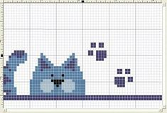 56 New Ideas For Crochet Cat Bookmark Pattern Punto Croce Mini Cross Stitch, Cross Stitch Cards, Cross Stitch Animals, Cat Cross Stitches, Cross Stitching, Cross Stitch Embroidery, Cross Stitch Designs, Cross Stitch Patterns, Motifs Animal
