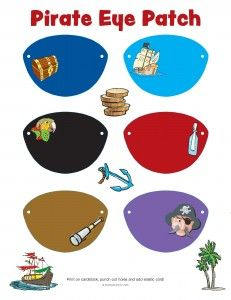 Freebie Friday - Pirate Eye Patches for International Talk Like A Pirate Day - Guildcraft Arts & Crafts Blog
