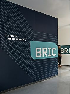 BRIC House environmental graphics by Poulin + Morris Inc.