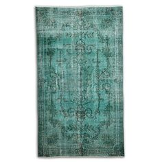 Antique Green Over Dyed Carpet by VintageKilimRugStore on Etsy