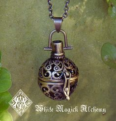 White Magick Alchemy - Medieval Amber Resin Pendant Locket Necklace in Bronze, $32.95 (http://www.whitemagickalchemy.com/medieval-amber-resin-pendant-locket-necklace-in-bronze/)