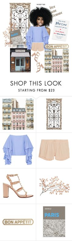 """""""Ruffles in Paris"""" by risingsea ❤ liked on Polyvore featuring Universal Lighting and Decor, Malabar, Rosie Assoulin, Alice + Olivia, Valentino, Pier 1 Imports and Palomar"""
