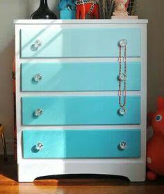 Ombre dresser for kids room