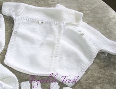 Burial Gown - good for sizes lbs Easy Baby Knitting Patterns, Teddy Bear Knitting Pattern, Baby Cardigan Knitting Pattern Free, Baby Hats Knitting, Baby Patterns, Knitted Baby Outfits, Knitting For Charity, Knitting Dolls Clothes, Angel Babies
