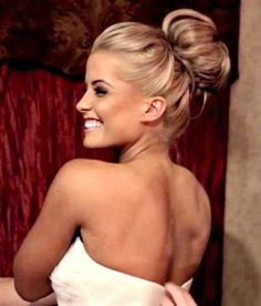 Hair bun clip in extension for full high bun updo | Weddings, Beauty and Attire…