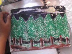 pine woods painting