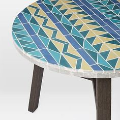 Mosaic Tiled Bistro Table - Multi Triangle #westelm
