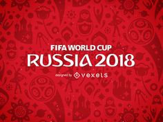 Russia 2018 FIFA Football World Cup design featuring illustrations and symbols in tones of red. Russia 2018 logo and elements can only be used for editorial use or with the proper authorization. Copyrights may apply. Barcelona Soccer Party, World Cup Logo, Fifa World Cup 2018, World Cup Groups, Word Cup, World Cup Champions, Fifa Football, World Cup Russia 2018, Birthday Cup