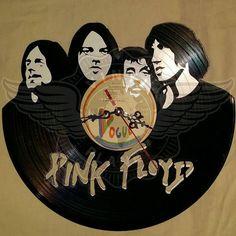 Vinyl wall clock PINK FLOYD