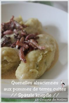recette-alsacienne-spätzle-knepfle-quenelles European Dishes, Alsatian, French Food, Oatmeal, Food And Drink, Homemade, Meals, Cooking, Breakfast