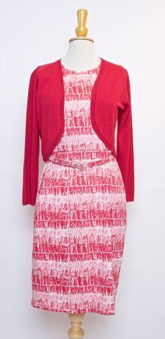 Shift dress and shrug from Nougat Clothing