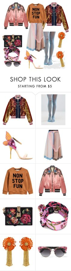 """""""Non-Stop Fun!"""" by p0llyinurpocket ❤ liked on Polyvore featuring Gucci, ASOS, Sophia Webster, Christopher Kane, Dolce&Gabbana and Yves Saint Laurent"""