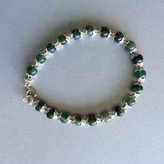 Handmade Jewelry - Pretty Green and silver Bracelet