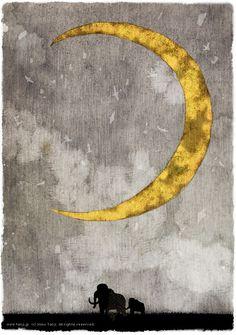 月とマンモス