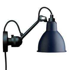 Lampe over spejl - Gras Væglampe Sort-Blå No. 304 CA
