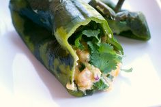 ... stuffed pepper 5pp stuffed with shrimp and cheese into pablano peppers