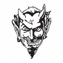 Devil Head logo vector Logo. Get this logo in Vector format from http://logovectors.net/devil-head-logo-vector/