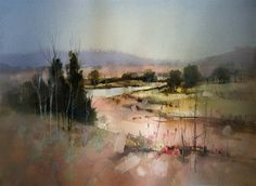 John Lovett Watercolor   After this painting was thoroughly dry a graded side wash of cool grey ...