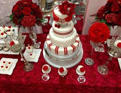 """Diamonds & Roses / Quinceañera """"Diamonds & Red Roses """" 