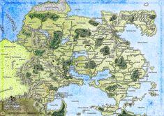 Ma fan map de la Flanesse, un univers de Dungeons & Dragons : Greyhawk