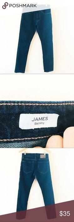 MAVI JEANS JAMES SKINNY Dark Wash Mid Rise Jeans MAVI JEANS JAMES SKINNY Dark Wash Jeans 30x30  •Waist: 30 •InSeam: 30 •Cut: Skinny •Wash: Dark •Other Details: Zip Fly •Returns accepted •Ready to Ship Mavi Jeans Skinny