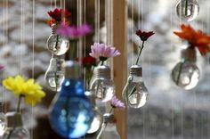 diy projekte alte glühbirnen blumenampeln
