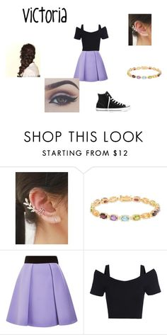 """""""Sin título #51"""" by evelyn-mendoza-1 on Polyvore featuring moda, kitsch island, Dolce Giavonna, FAUSTO PUGLISI, Disney y Converse"""