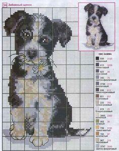 animais gráficos ponto cruz, cão gráfico ponto cruz .