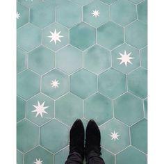 p/moroccan-encaustic-cement-hexagonal-tile-rex-star - The world's most private search engine Floor Sink, Tile Floor Diy, Bathroom Floor Tiles, Kitchen Tiles, Colourful Bathroom Tiles, Navy Kitchen, Kitchen Redo, Wall Tiles, Morrocan Bathroom