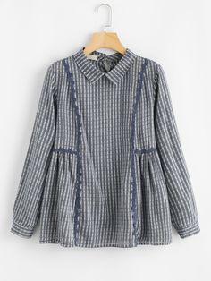 Shop Striped Babydoll Blouse online. SheIn offers Striped Babydoll Blouse & more to fit your fashionable needs.