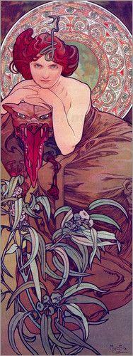 Smaragd by Alfons Maria Mucha