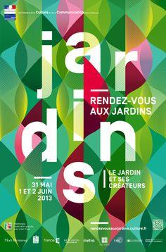 """DES SIGNES – Poster """"Rendez-vous aux Jardins"""""""