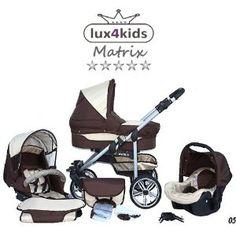 Kombi Kinderwagen Matrix 2 - 3 in 1 VIP Mega Set über 10 Teile Systemkinderwagen Autositz Buggy Wickeltasche: Amazon.de: Baby