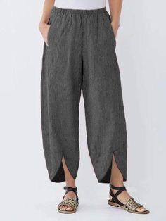 Casual Pockets Striped Plus Size Pants Pants For Women, Clothes For Women, Linen Pants Women, Plus Size Pants, Plus Size Casual, Cotton Pants, Casual Summer Dresses, Casual T Shirts, Casual Pants