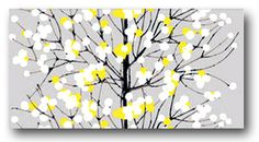 Cute grey & yellow painting. @Lisa Phillips-Barton Dickson - I need you to paint this for me!!!