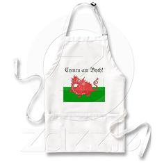 Customizable Cute Welsh Red Dragon Apron | Zazzle.co.uk
