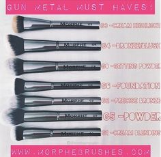 Our Gunmetal Brushes are bangin'???????? ?????? Shop these individually sold br...