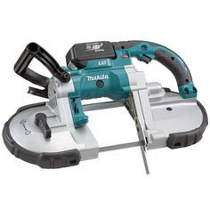 Makita DPB180RFE, 18V Portable Band Saw Kit http://cf-t.com/product/makita-dpb180rfe-18v-portable-band-saw-kit/