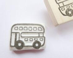 Digger rubber stamp Baby boy decor by JapaneseRubberStamps on Etsy