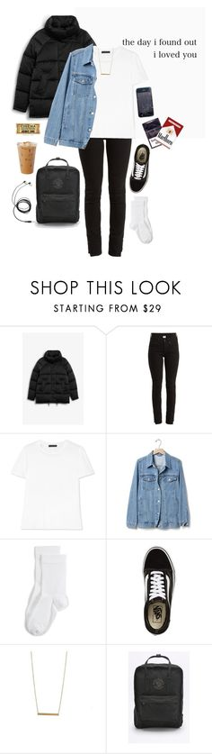 """""""rosey cheeks and dirt-colored eyes"""" by megtijssen ❤ liked on Polyvore featuring Monki, Vetements, The Row, Gap, Wolford, Vans and Fjällräven"""