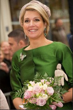 Queen Maxima of The Netherlands during a one day visit to Luxembourg on 24 May 2013