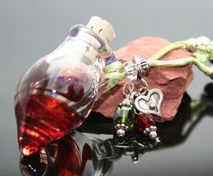 Aromatherapy Necklace Summer's End Lampwork by AromatherapyJewelry, $68.75