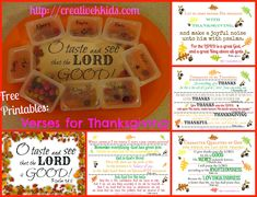 Free printables of verses about thankfulness to God and ways you could use them plus worksheets to go along with verses.