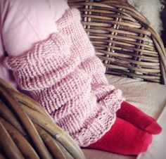 lasten säärystimet, knitted leg warmers for kids