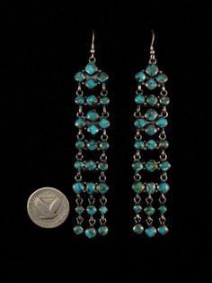 Vintage Navajo Silver and Turquoise Earrings