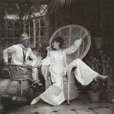 Moon to Moon: Peacock chair. [Cecil Beaton and Audrey, I believe.]
