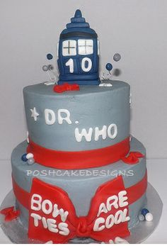 Dr. Who Cake - Dr Who Bow Ties Are Cool Cake #poshcakedesigns #DrWho #bowties #cool #birthday #cake #Dr Who