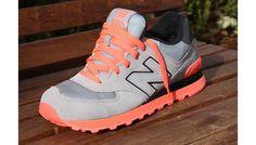 <3 <3 New Balance 574 Neon Pack Grey/Infrared #NB #NB574 #NewBalance