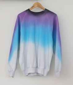 Image of Lavender Night Sky Teen Fashion, Korean Fashion, Fashion Outfits, Cropped Hoodie, Sweater Hoodie, Culottes, Pullover, Sweater Weather, Pretty Outfits