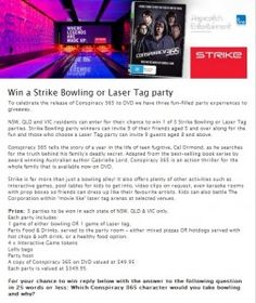 Win a Strike Bowling or Laser Tag Party
